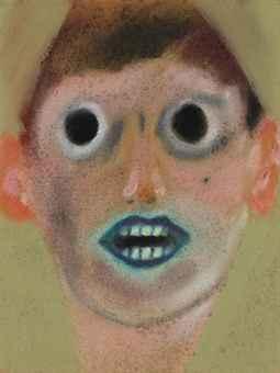 Lucas Samaras – Sans titre (1961) – Pastel sur papier (30,2 x 22,5 cm)