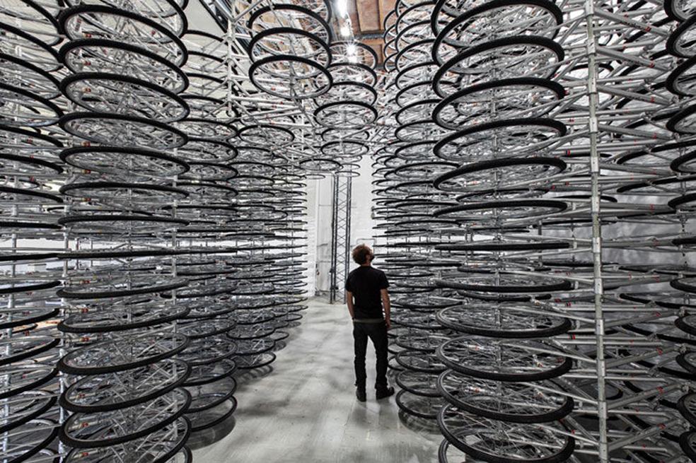 Aï Weiwei – Stacked, Sculpture installation, Artist's courtesy & Galleria Continua, San Gimignano, Italy.