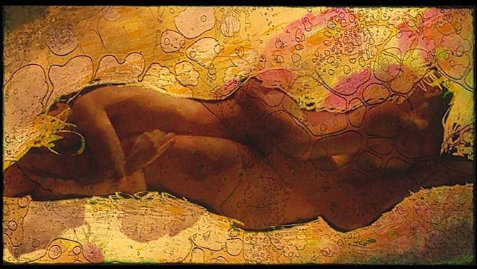 Bernard Gast – Nu d'aurochs (1999), Paintless-Painting (0,60 x 1, 20 m) ©Adagp