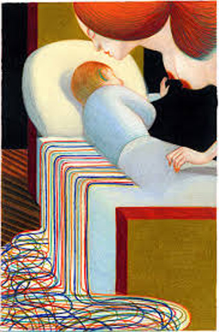 Mattotti Lorenzo – Sigmund Freud Racconti analitici (2011), Crayon de couleur et pastel sur papier © Mattotti Lorenzo
