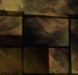 Bernard Gast–À l'abri de mon nom(2017),Paintless-Painting(1,30 x 3,93 m) © Adagp