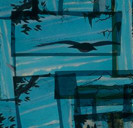 Bernard Gast–C'est là-dessus que je mise(2017),Paintless-Painting(1, 30 x 1, 85 m) © Adagp
