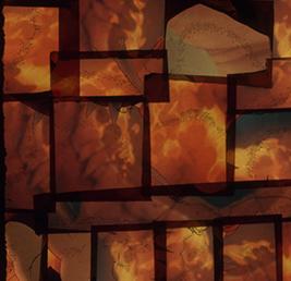 Bernard Gast–Vaste brèche dans le temps(2017),Paintless-Painting(1, 30 x 1, 32 m) © Adagp